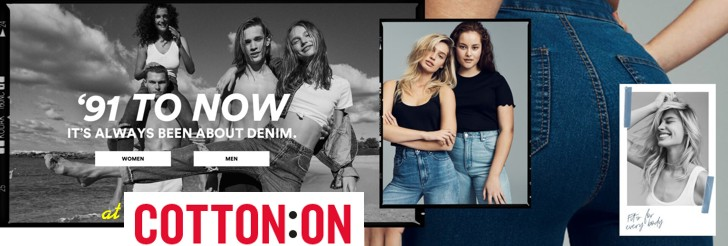'91 to now. It's always been about Denim at Cotton On
