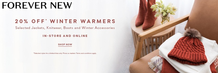 20% Off Winter Warmers at Forever New