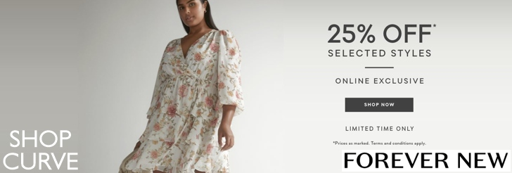 25% off selected styles at Forever New