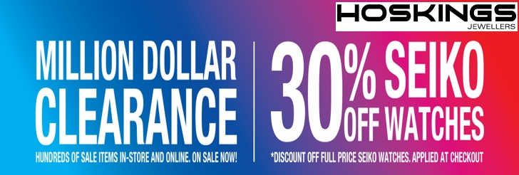 Million Dollar Clearance at Hoskings Jewellers