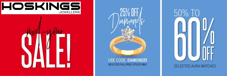 Midyear Sale at Hoskings Jewellers