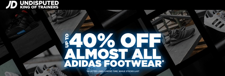 Up to 40% Off adidas Footwear at JD Sports