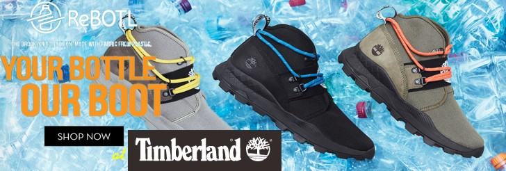 ReBOTL - Made with fabric from plastic at Timberland